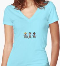 """Sensi Tee: Argentina: """"La Albicelestes"""" (""""The White and Sky Blue"""") Women's Fitted V-Neck T-Shirt"""