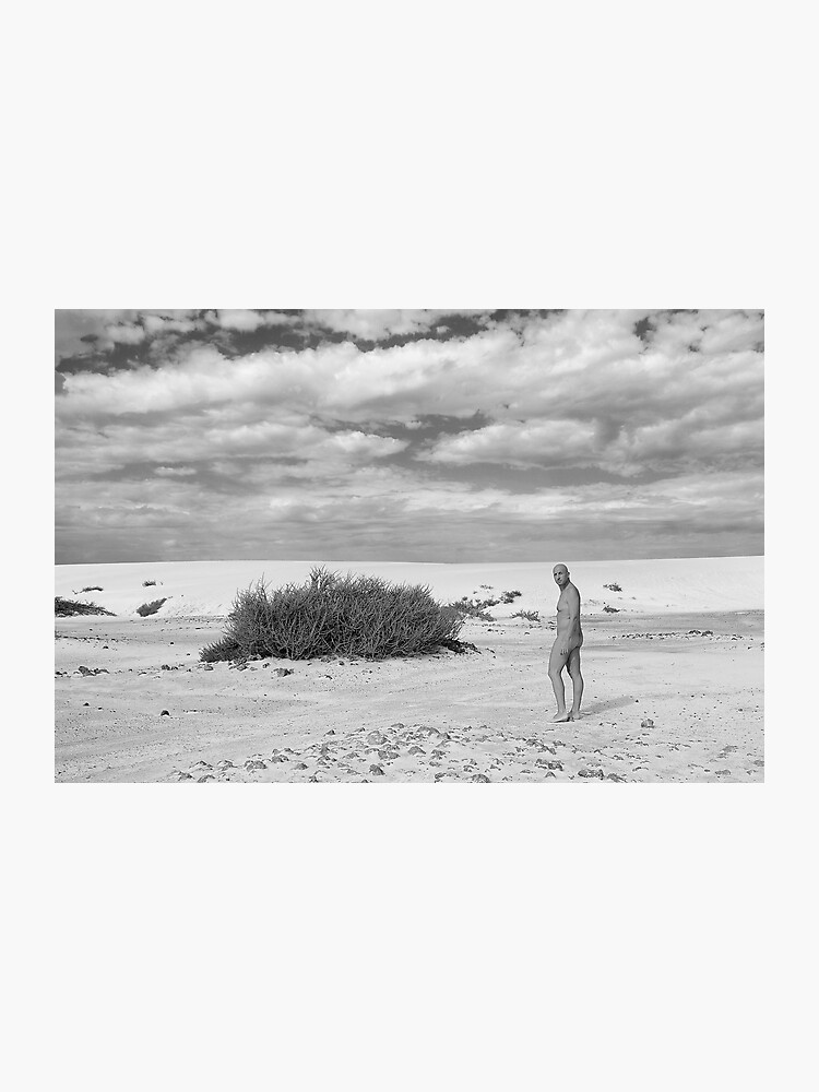 Nude in the desert | Photographic Print