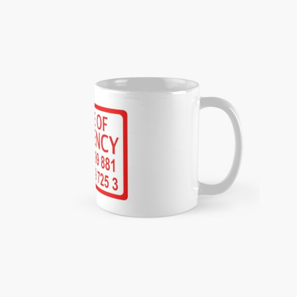 emergency sticker Classic Mug
