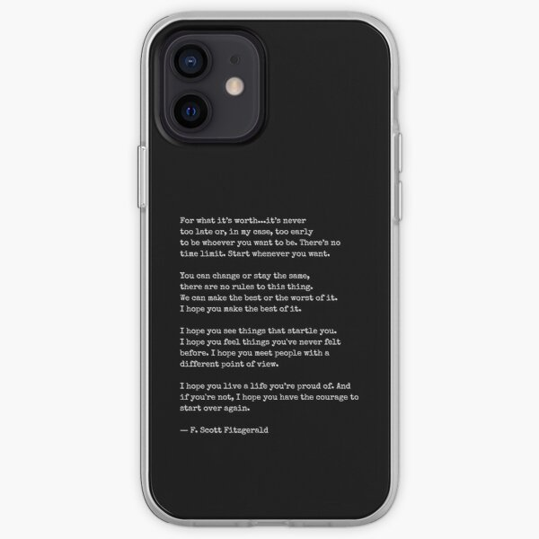 For What Its Worth - F Scott Fitzgerald iPhone Soft Case