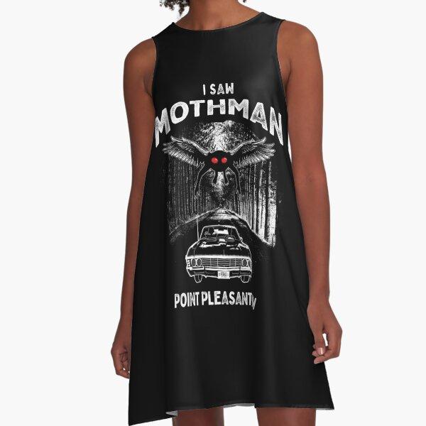 I Saw Mothman, Point Pleasant, WV 1966 A-Line Dress