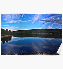 Late Afternoon By Grassy Lake Reservoir  Poster