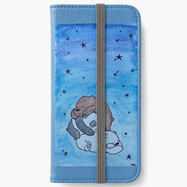 Desnudos osos durmiendo Fundas tarjetero para iPhone