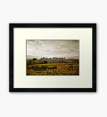 Historic fortified city of carcassonne (France) Framed Print