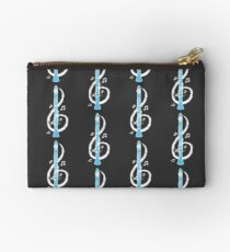 Musical Clarinet Treble Clef Studio Pouch