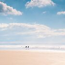 Sunshine and surf at Saunton Sands, Devon by Zoe Power