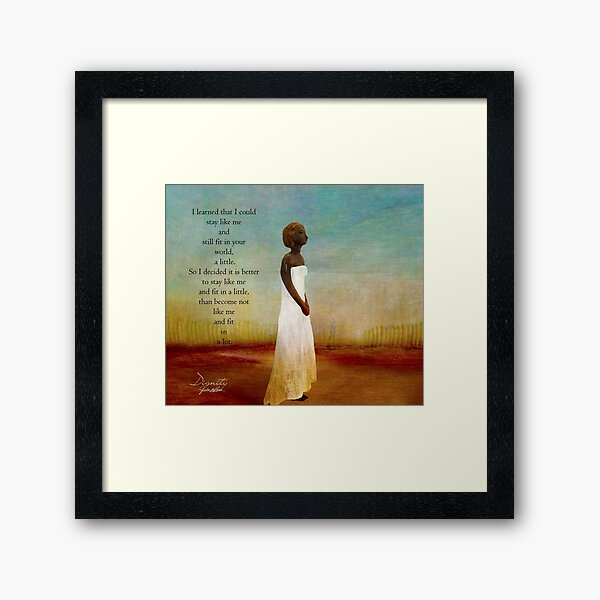 Dignity with words Framed Art Print