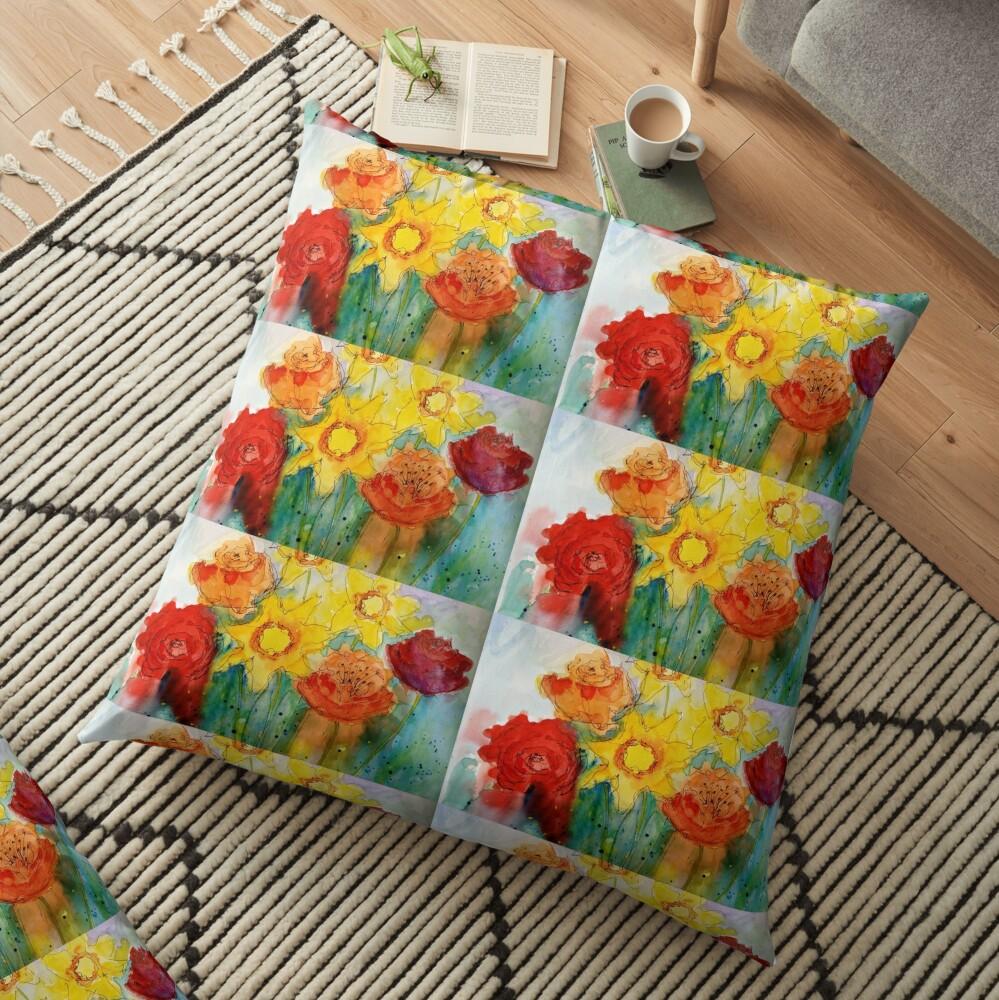 Mothers Day Bouquet K Floor Pillow