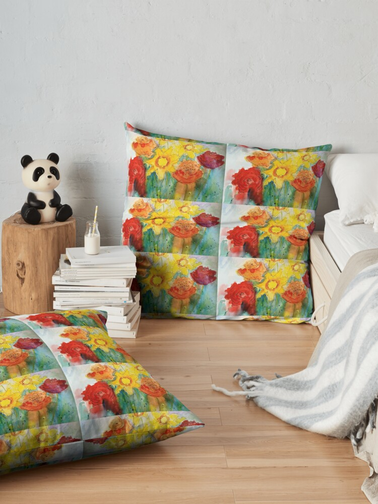 Alternate view of Mothers Day Bouquet K Floor Pillow