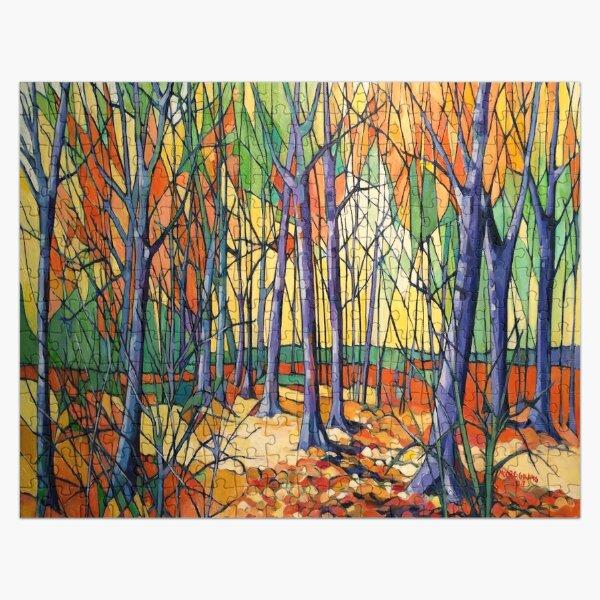 'Autumn Tiergarten, Berlin' oil on canvas. Jigsaw Puzzle