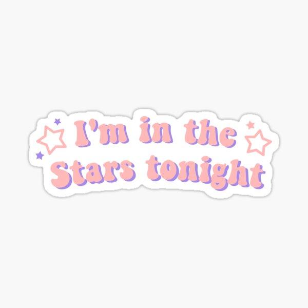 Estoy en las estrellas esta noche dinamita BTS rosa Pegatina