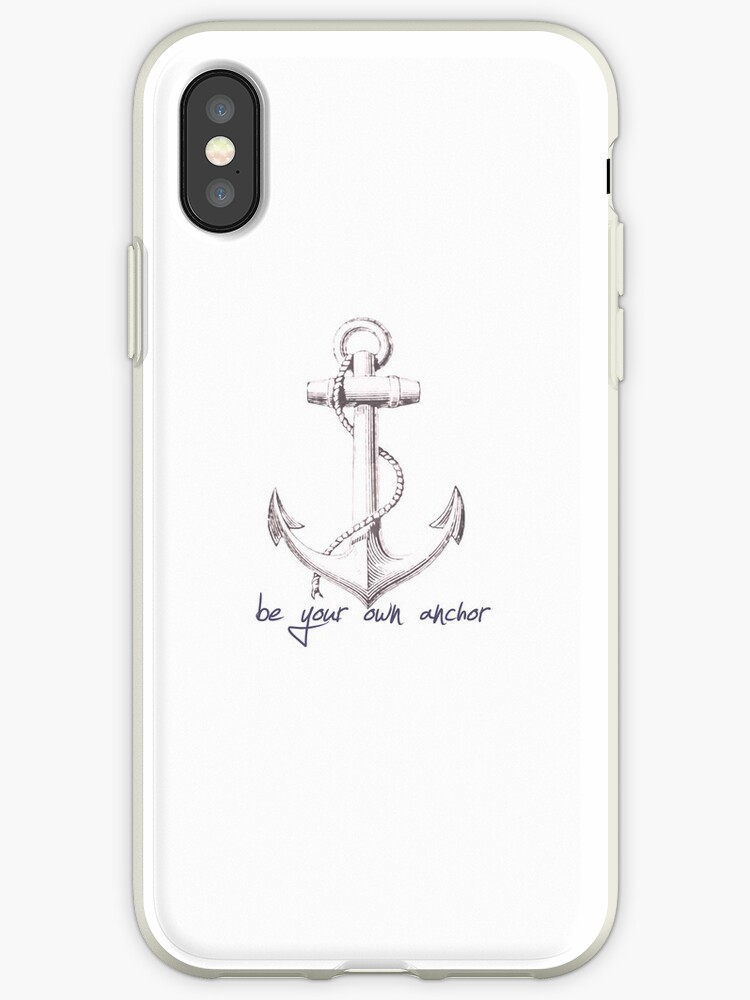 cheaper 77549 a60a6 'Teen Wolf Quote- Be Your Own Anchor' iPhone Case by nargle