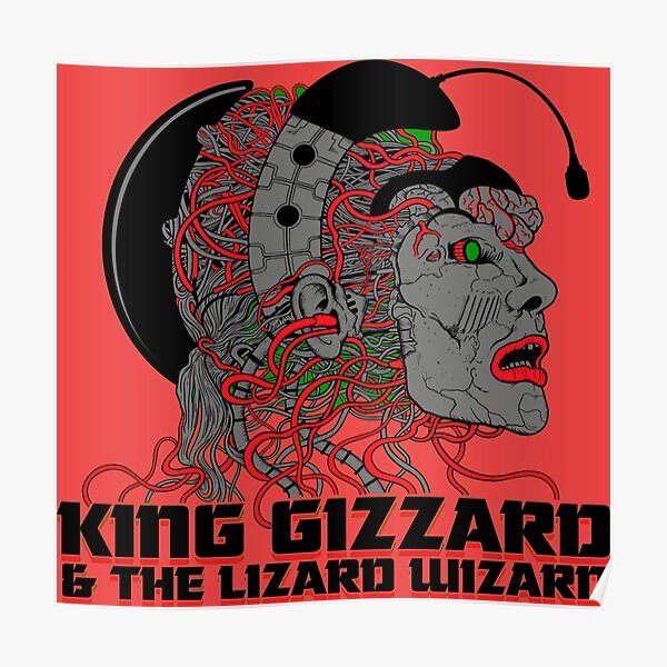 King Gizzard And The Lizard Wizard EE. UU. Y Canadá 2019 * rojo Póster