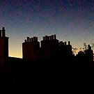 Chimney Pots, Dusk. Edinburgh. by Robert Steadman