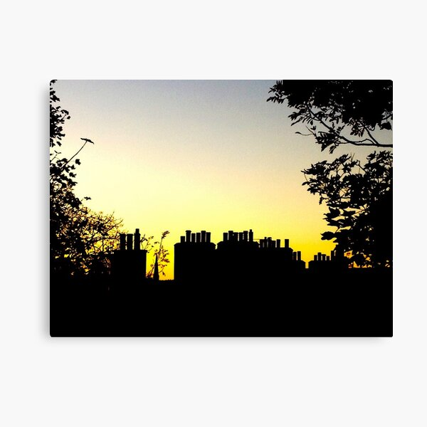 Chimney Pots. Sunset. Edinburgh. Canvas Print
