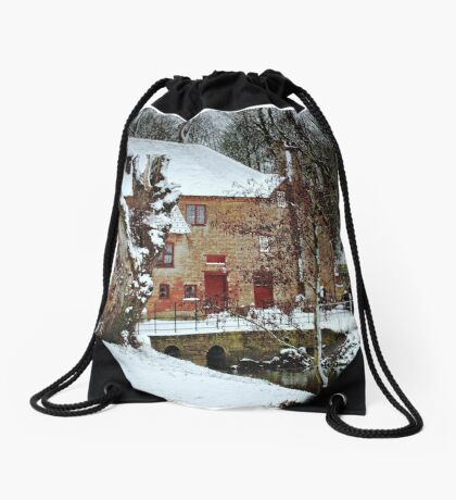 The White Mill Drawstring Bag