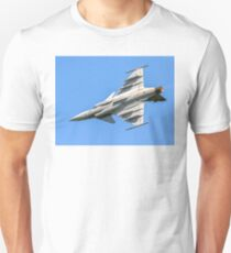 SAAB JAS 39C Gripen 9240 in a vertical bank Unisex T-Shirt