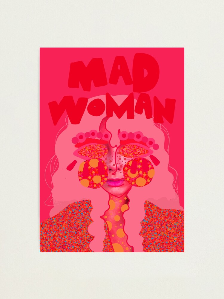 Alternate view of Mad Woman: Crayon Woman Photographic Print