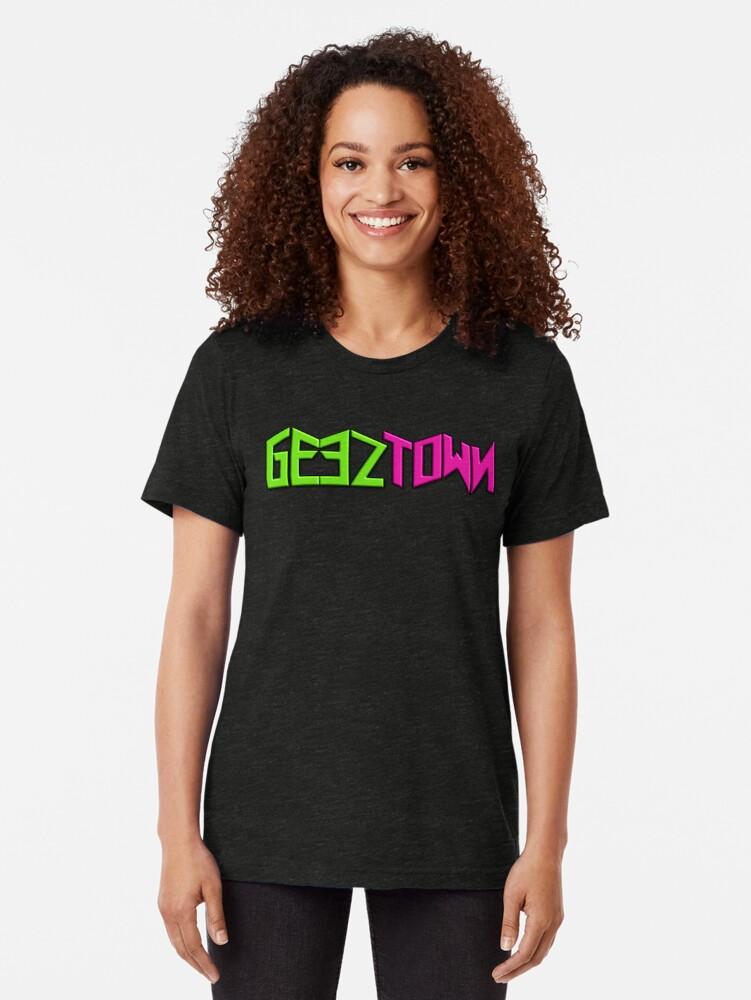 Alternate view of Geeztown Logo Tri-blend T-Shirt