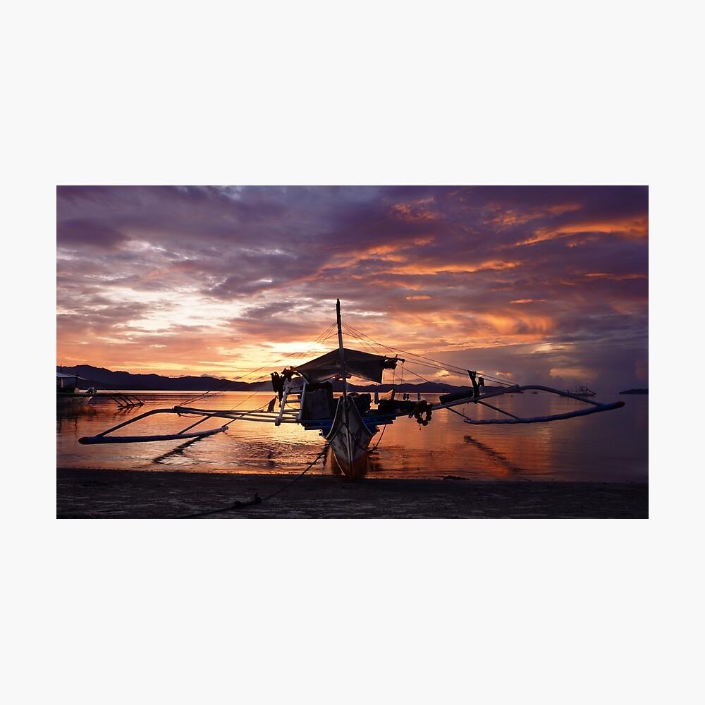 Bangka boat at sunset