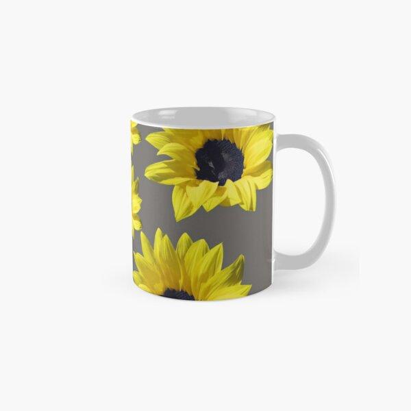 Sunflowers On Grey Classic Mug