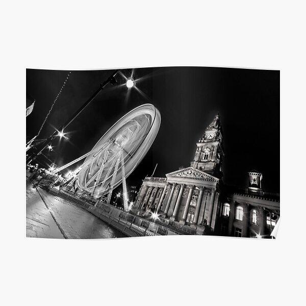 Bolton's big wheel (B&W) Poster
