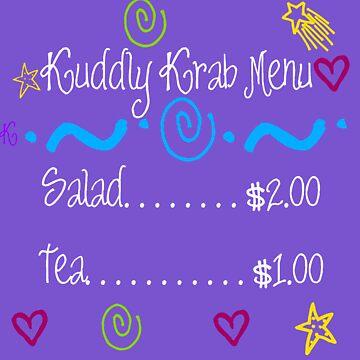 The Kuddly Krab Menu by LGells