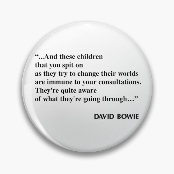 The Breakfast Club David Bowie quote  Pin