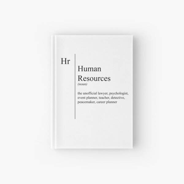 Funny Human Resources Description Hardcover Journal