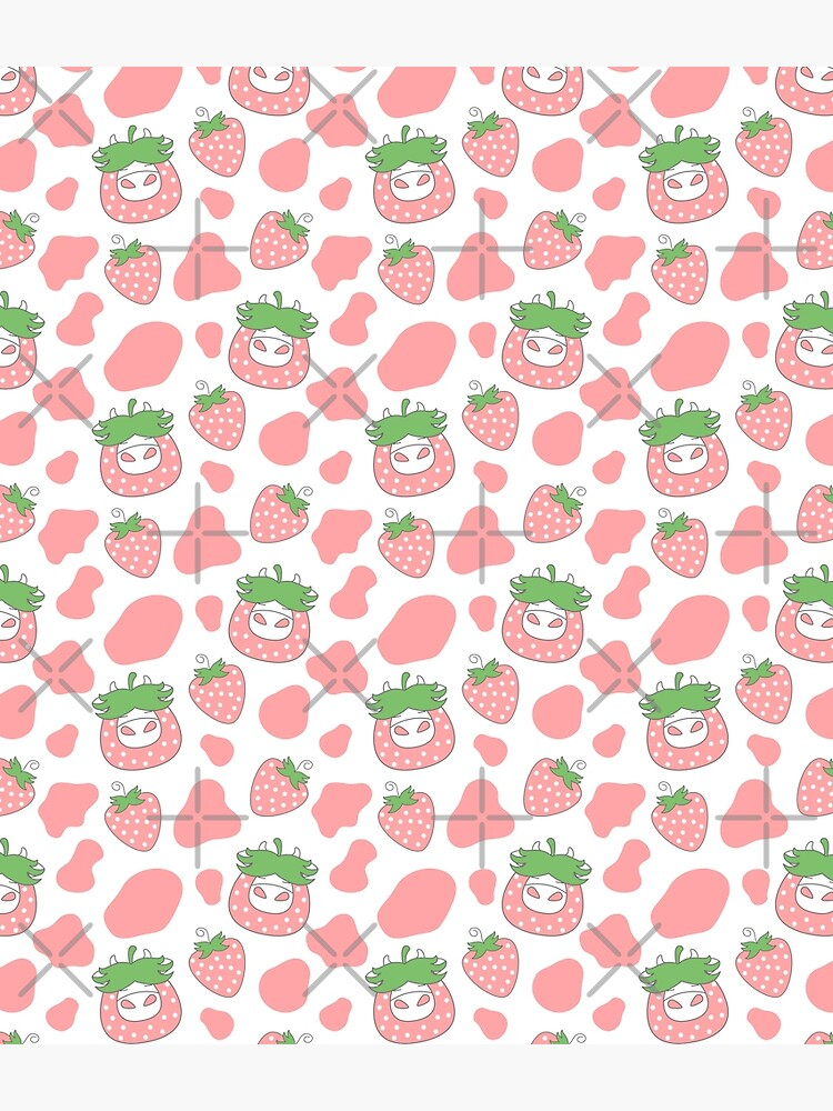 Pink Strawberry Cow by Lulupainting