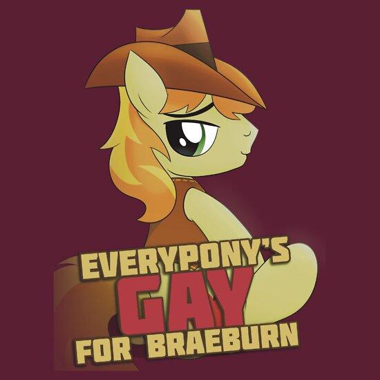 TShirtGifter presents: Gay for Braeburn Shirt (My Little Pony: Friendship is Magic) | Unisex T-Shirt