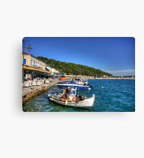 Katakolon Restaurants Canvas Print