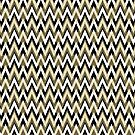 Chevron Elegance Gold and Black by SpiceTree