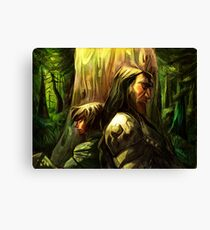 Wolf and Hound Canvas Print
