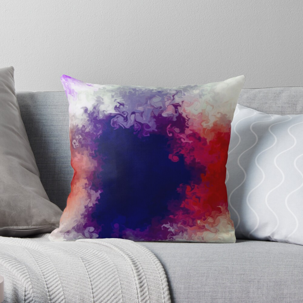 Multicolored unique everlasting pattern, acrylics Throw Pillow