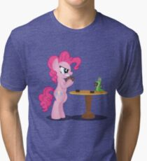 Pinkie Pie and Gummy Play Magic Shirt (My Little Pony: Friendship is Magic) Tri-blend T-Shirt
