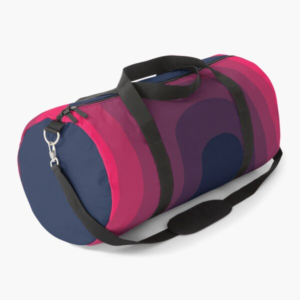Artistic Pink color gradient abstract design Duffle Bag