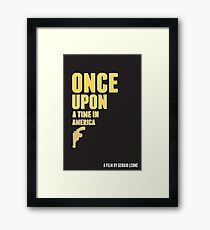 Once Upon a Time in America (Alternative Poster) Framed Print
