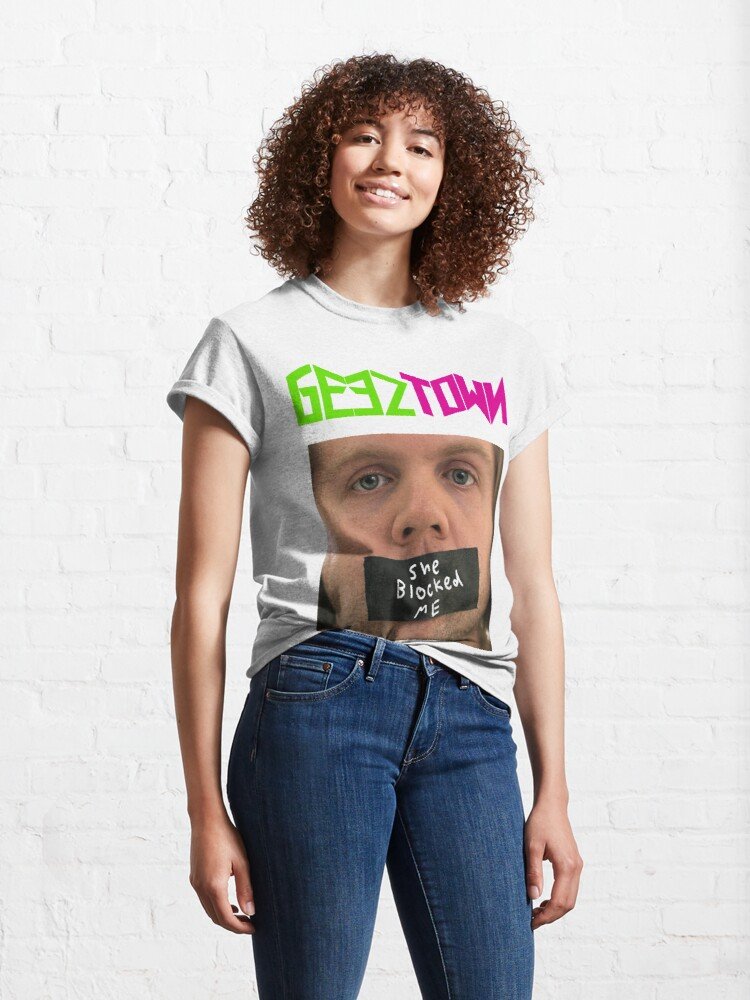Alternate view of She Blocked Me Classic T-Shirt