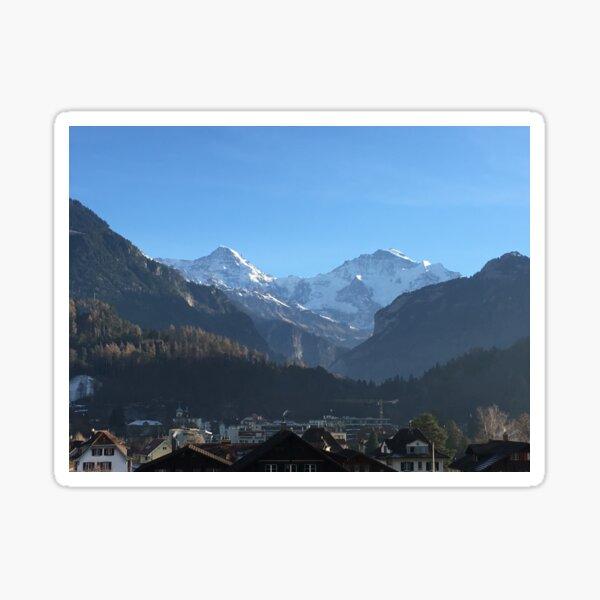 Snowy Mountain Tops Sticker
