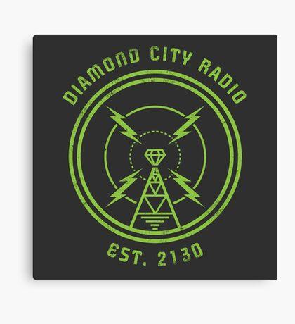 DIAMOND CITY RADIO Canvas Print