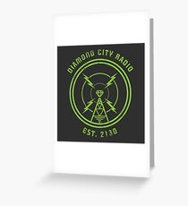 DIAMOND CITY RADIO Greeting Card