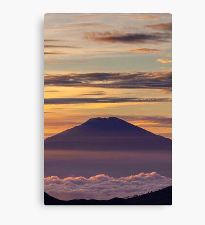 Pink volcano Canvas Print