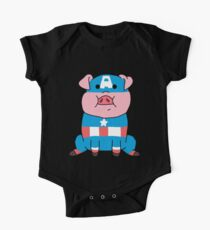 Captain Ameripig Waddles One Piece - Short Sleeve