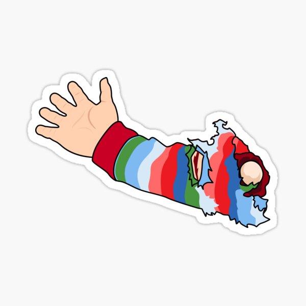 Semilla de Chucky | Brazo de Chucky Pegatina