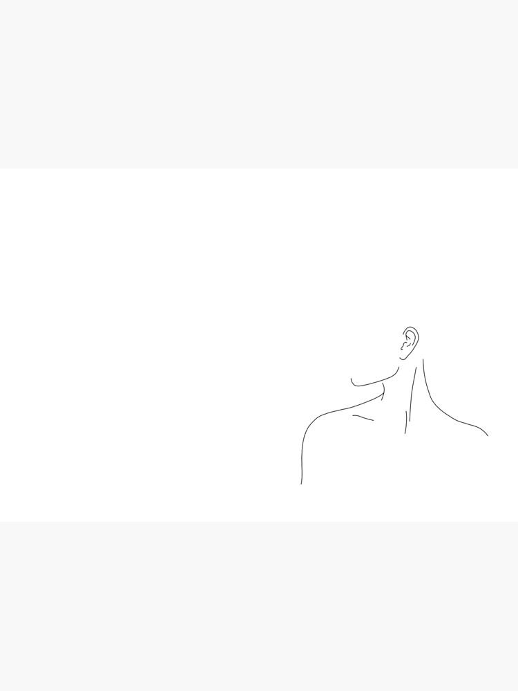 Figure line drawing illustration - Uma by TheColourStudy