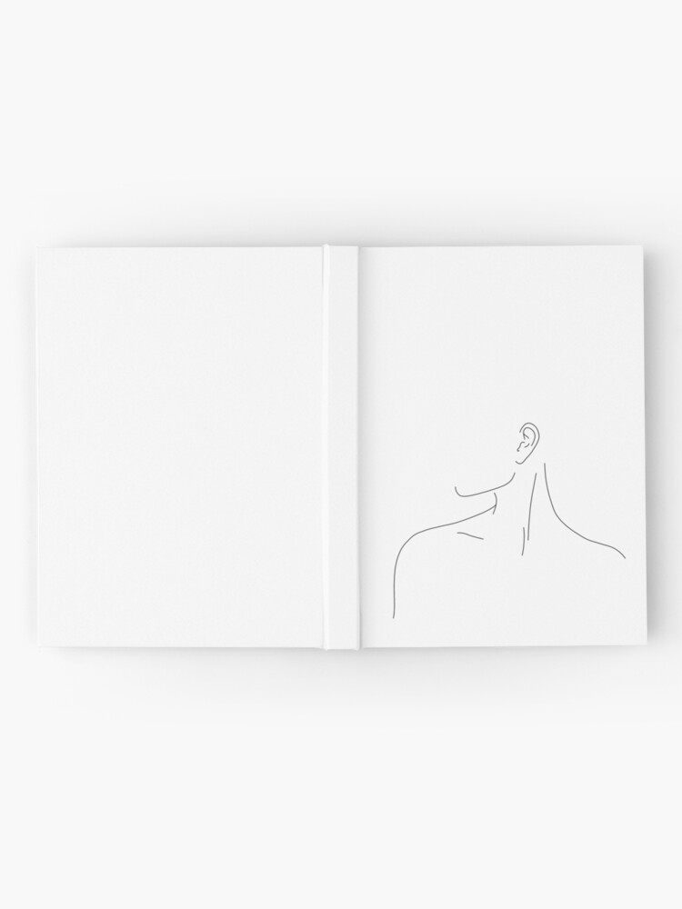 Alternate view of Figure line drawing illustration - Uma Hardcover Journal
