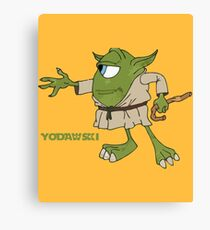 Star Wars Yodawski Canvas Print