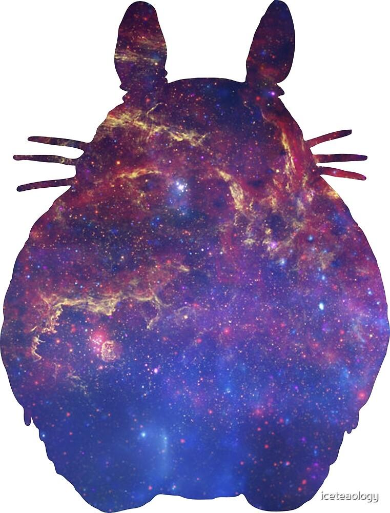 Totoro Studio Ghibli Anime Silhouette Galaxy Art by iceteaology