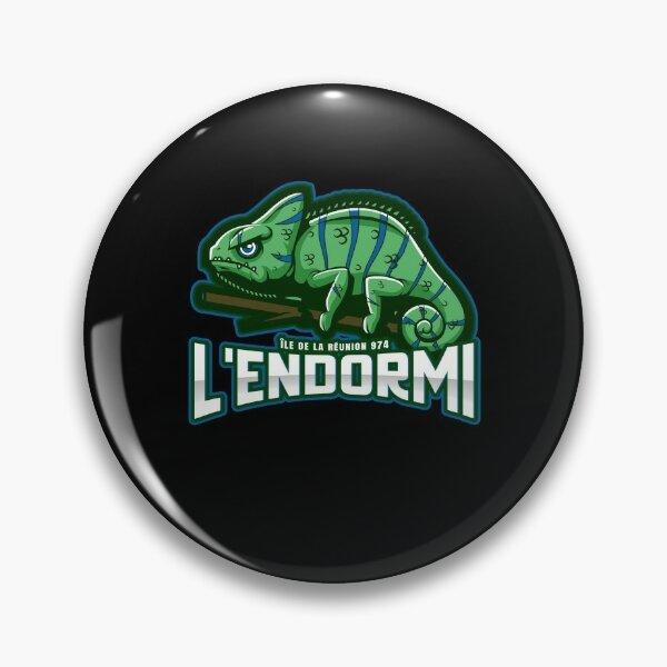 L'endormi caméléon de La Reunion 974 cadeau drôle Badge
